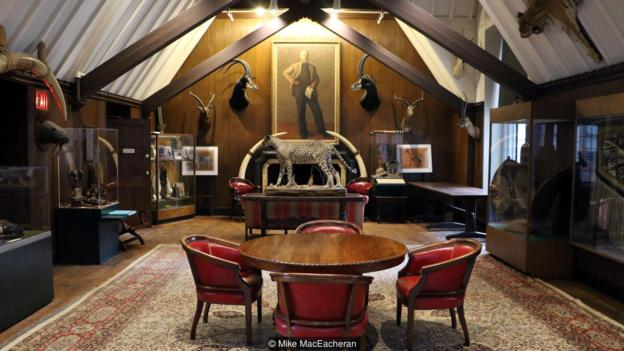 The Explorers Club's New York headquarters houses around 1,000 artefacts collected by its members (Credit: Credit: Mike MacEacheran)