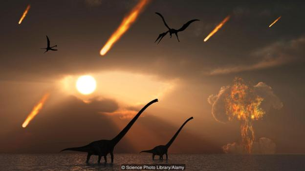 The asteroid impact would have wiped out 75% of all life on Earth, including almost all of the dinosaurs (Credit: Credit: Science Photo Library/Alamy)