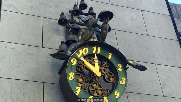 Solothurn's 11-hour clock is made with 11 cogs and 11 bells (Credit: Credit: Mike MacEacheran)