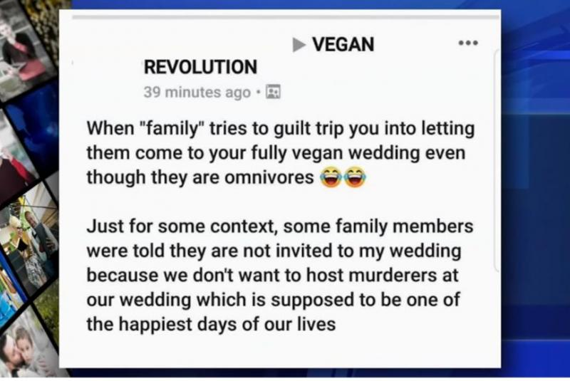 Image result for Vegan bride-to-be bans meat eaters from her wedding