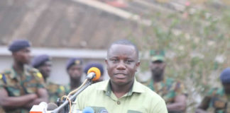 Defence minister, Dominic Nitiwul