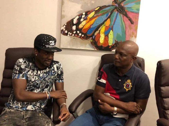 Asamoah Gyan and Kwesi Appiah