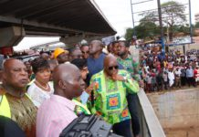 Akufo Addo tours drainage system
