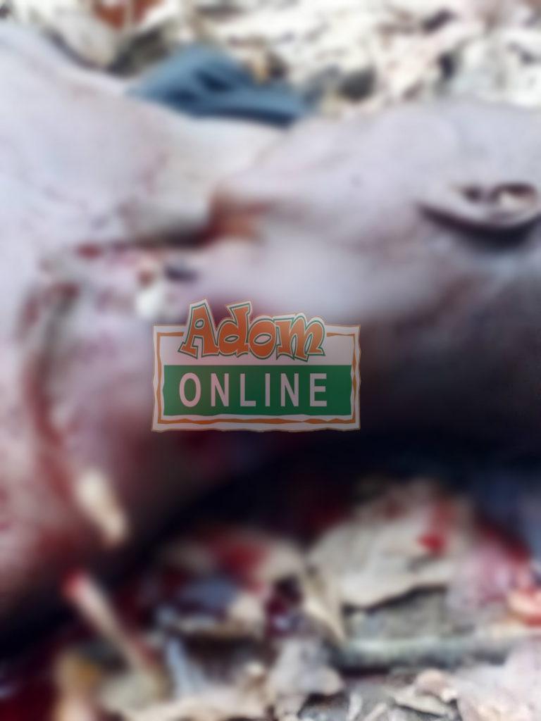 man butchered