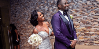 John Dumelo and wife in a post-wedding shoot