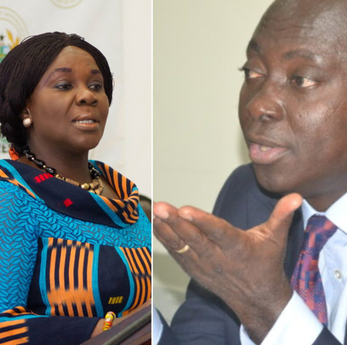 Cecilia Dapaah left, Samuel Atta Akyea
