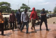 The accused persons leaving the court premises kidnap