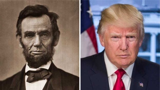 Trump and Abe Lincoln