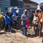 Mahama visits flood