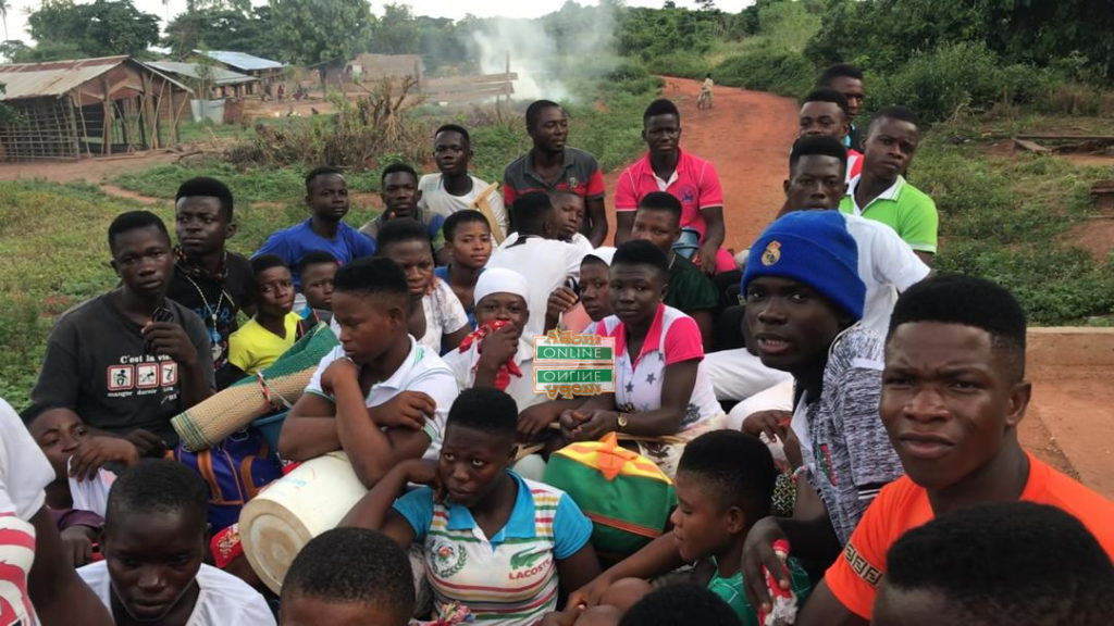BECE students transported in a truck