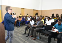 Mr Dario Bianchi, MTN's Digital Consultant leading the presentation during the Bright Young CEO Summit