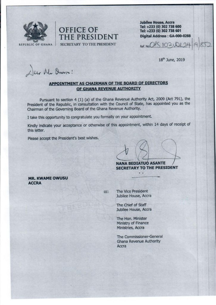 Breaking: '13 air conditioners man' now heads GRA Board   Ghana Waves