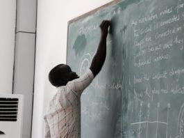 teachers black board classroom
