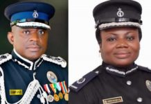:Inspector-General of Police, David Asante Apeatu (L) and Director-General of Criminal Investigations Department, Maame Yaa Tiwaa Addo-Danquah