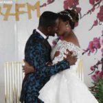 Adjetey Annag and wife kiss