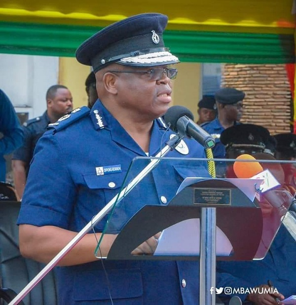 The acting Inspector-General of Police, Mr James Oppong-Boanuh