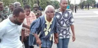 85-year-old Chairman of the group, Charles Kormi Kudzordzi was arrested with eight others.
