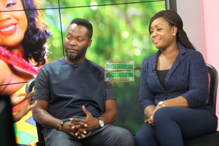Ace Actor, Adjetey Anang and wife Elorm Anang