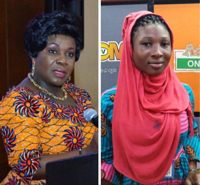 Sanitation Minister Cecilia Dapaah.