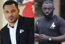 Van Vicker (L) and Kofi Asamoah