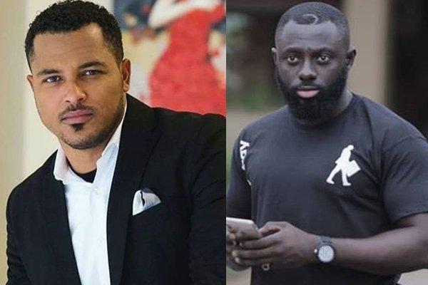 Van Vicker (L) and Kofi Asamoah