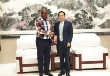 Former President John Mahama thanked the Chinese Ambassador, Shi Ting Wang, for China's support during his presidency.