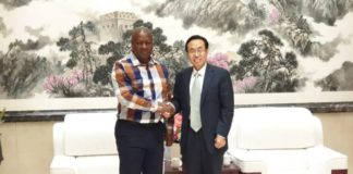 Former President John Mahama thanked the Chinese Ambassador, Shi Ting Wang, for China's support during his presidency.
