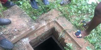 The septic tank which housed the human remains