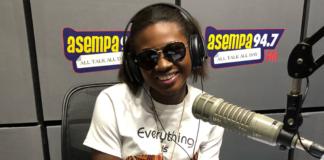 Martha Ankomah at Asempa FM studio