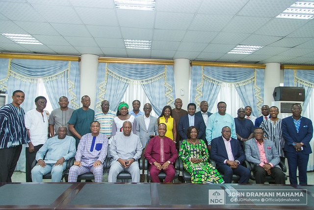The former President led discussions on a number of subject areas, including corruption, a national development agenda, education, the Electoral Commission, security and the banking and financial sector.