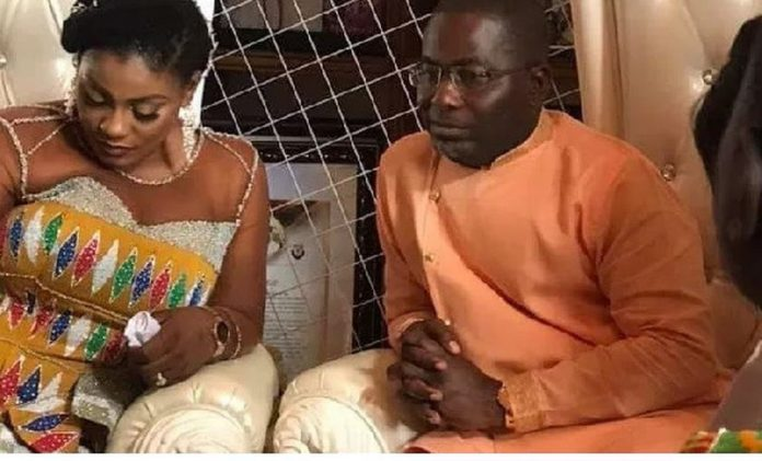 Charles Cromwell Nanabanyin with his newly wedded wife, Deputy Information Minister Nana Dokua Asiam