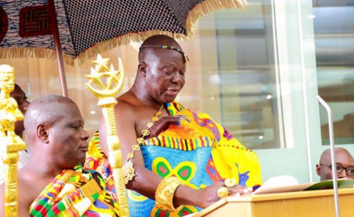 The Asantehene, Otumfuo Osei Tutu II,
