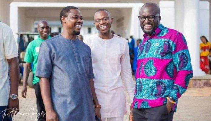 Emmanuel Sin-nyet Asigri and his two deputies Mr. Richard Ebbah Obeng and Bright Acheampong