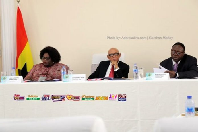 Emile Short Commission: Law professor, Henrietta Mensa-Bonsu; retired Supreme Court judge, Francis Emile Short and retired IGP, Patrick Kwarteng Acheampong.