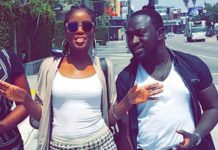 Mzvee with Richie Mensah, Owner of Lynx Entertainment