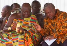 Asantehene and John Mahama