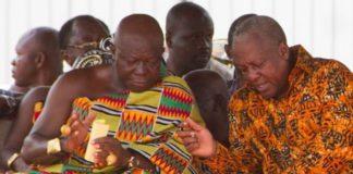 Asantehene and John Mahama