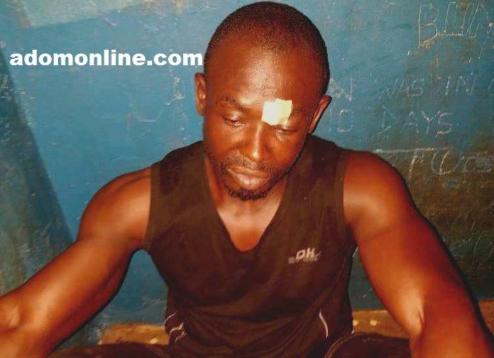 Charles Frimpong after his arrest