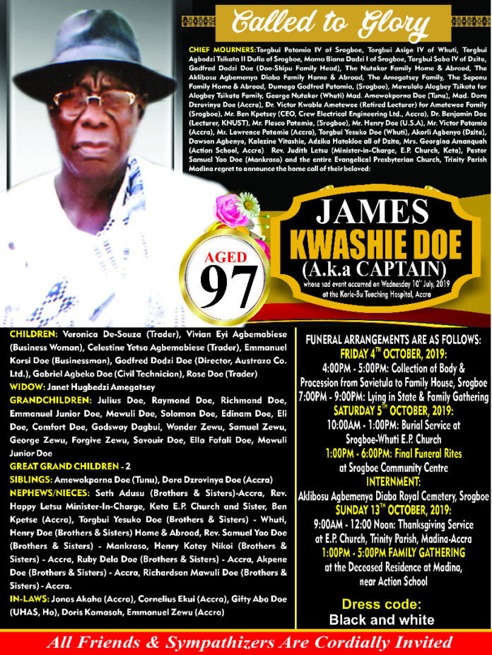 James Kwashie Doe
