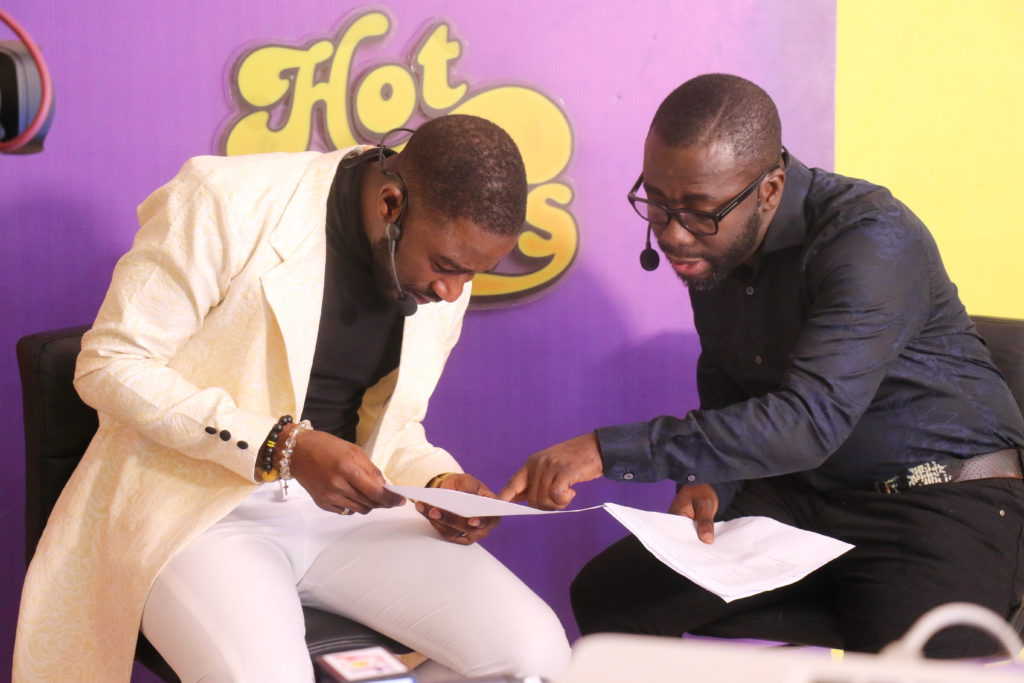 Joy Prime's KMJ and Hitz FM's Andy Dosty (R) at Hottest DJ launch