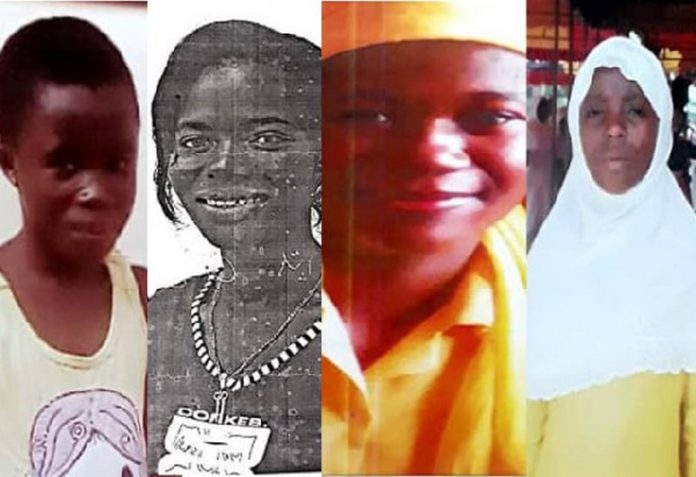 Another four set of females have been reported missing in the Western regional capital