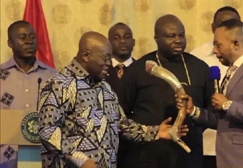 President Nana Addo Dankwa Akufo-Addo and Rev. Dr. Isaac Owusu Bempah