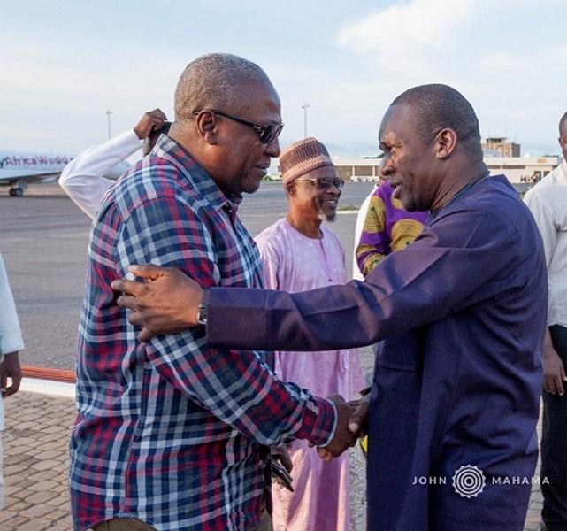 John Dramani Mahama Congratulates Speaker Rt .Hon Alban Bagbin