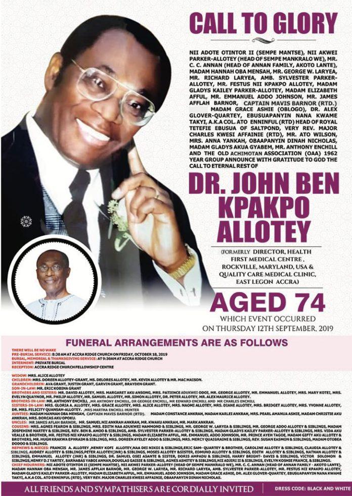 Dr. John Ben Kpakpo Allotey