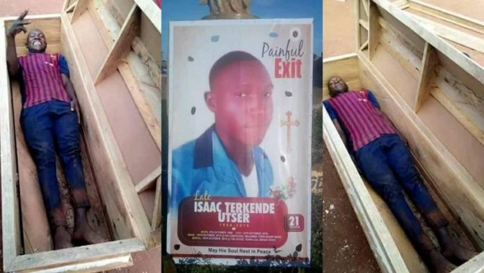 Adventurous young man dies a day after lying in a coffin to take pictures