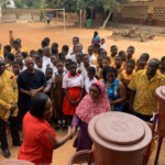 The rotary club of Accra, Kanda with the aim of creating sanitary consciousness, has donated some veronica buckets, hand washing soaps as well as napkins to the Kanda AMA basic school.