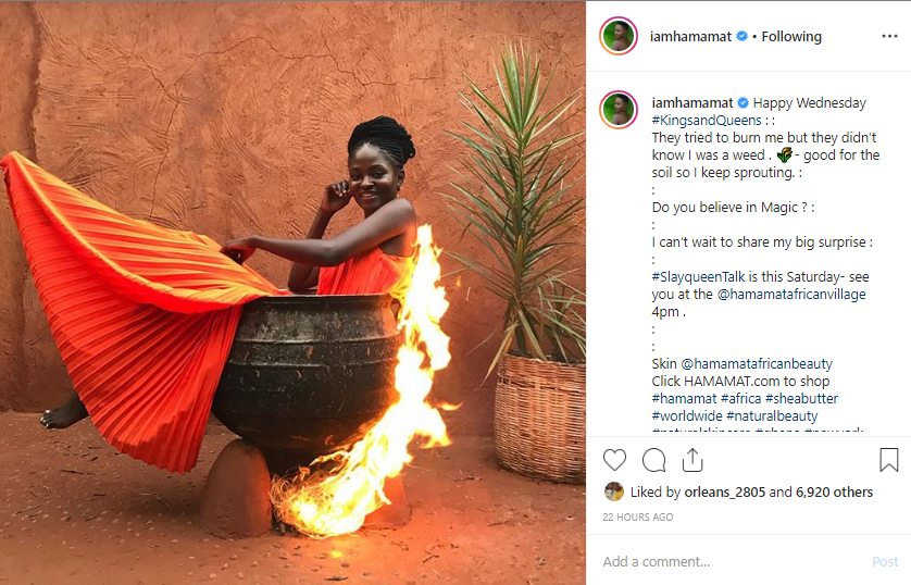 Photo: Miss Malaika 2006 Hamamat sitting on a pot of fire breaks the internet 2