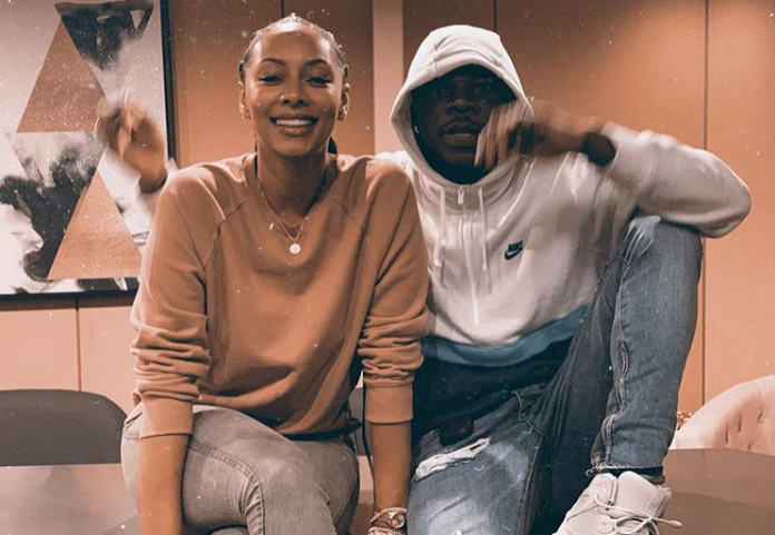 Stonebwoy captured in a photo with Keri Hilson
