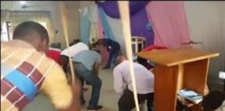church members flog devil