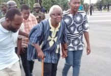 harles Komi Kudzordzi [with walking stick] declared Western Togoland independent on November 16